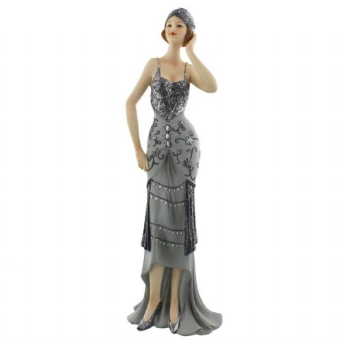 Juliana Art Deco Lady Figurine Midnight Shimmer - 'Lavinia' 60821